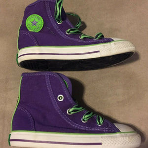 CONVERSE ALL STAR PURPLE TODDLER SNEAKERS
